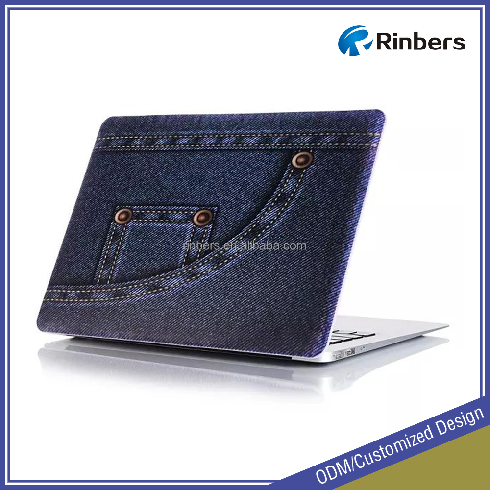 "Popular Jeans Texture Pattern Hard Shell Plastic Cover Case for Macbook Air 11"" 13""/Retina 12"" 13"" 15""/Pro 13"" 15"""