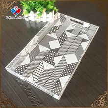 Fashion design printed acrylic square serving tray wholesale acrylic serving tray