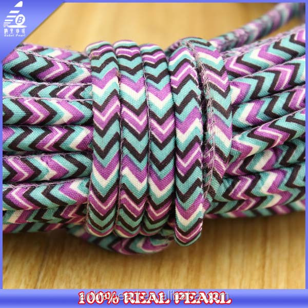 Mixed Colors Faux Leather 5 mm Round Cotton Cord for Bracelet Making
