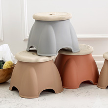 Home Furniture Portable Baby Round Plastic Foot Stool Step