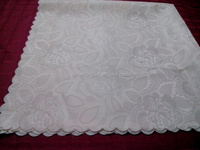Damask cotton/poly fabric table cover