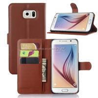 Luxury Business Design Wallet Standing Lychee Leather card slot leather pu case for samsung note 5 factory price
