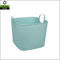 Blue PE Plastic Tote with Handle
