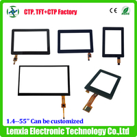 Standard or custom 1.4'', 2'', 2.4'',2.8'', 3.5'',4.3'',5'',7'',10.1'',15'' lcd capacitive touch screen