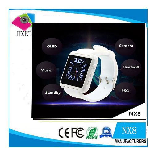 NX8 sports bluetooth watch, smart watch phone u8 without touch display