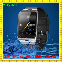new model have camera NFC support IOS waterproof android smart wrist hand watch mobile phone