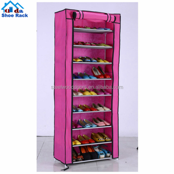 Folding shoe rack with cloth cover 6 tier shoe racks for closets for sale