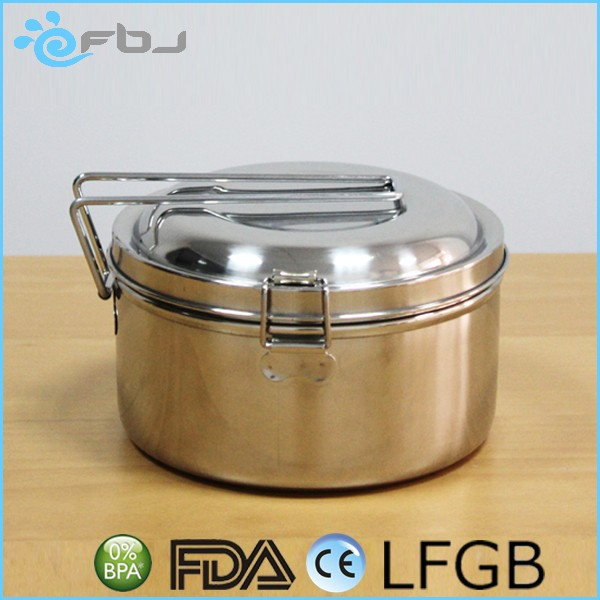 Double Layers Metal Dome Lunch Box