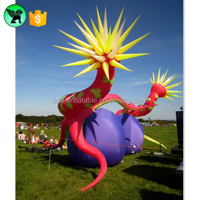 Summer Festival Events Tentacle Inflatable Flower 3m Monster Customized Cartoon Inflatable Father Santa Claus A881