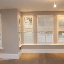 Decorative Plantation Shutter Components Wooden/PVC Material Window Blinds