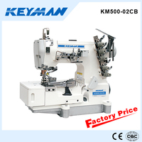 KM500-02CB High speed flat-bed interlock sewing machine for rolled edge sewing machine needle guard 500 sew machine
