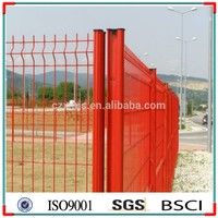 CE certificated galvanized and PVC High Quality 3d welded metal wire mesh fencing /used wrought iron fencing for sale price