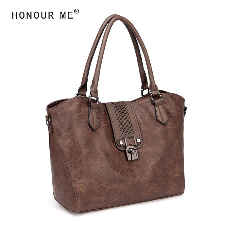 Nouvelle fantaisie designer doux pu en cuir évidé bureau fourre-tout sacs pour dames week-end sac