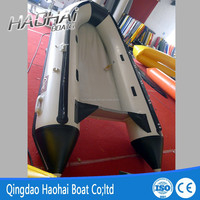 3.6m imported pvc inflatable sports boat with aluminum floor