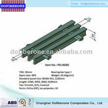FRP fiberglass pultruded grating I-bar 25mm 60% open rate