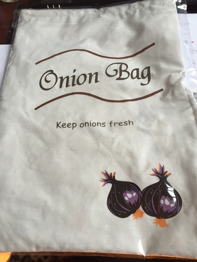 Cotton Zip Opening Keep Fresh Vegetable Fresher Onion Garlic Potato Storage Bag