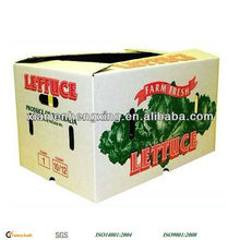 Cardboard corrugated carton box for fruit and vegetable manufacture