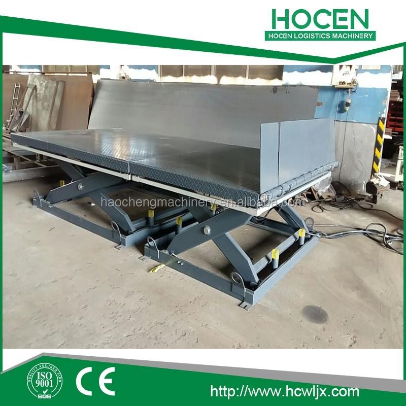 Hydraulic Lift Examples : Fixed hydraulic scissor lift work table buy