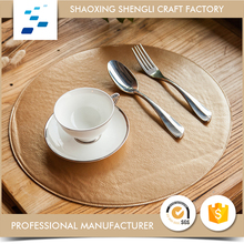 China supplier Different design Stainless gold round placemats