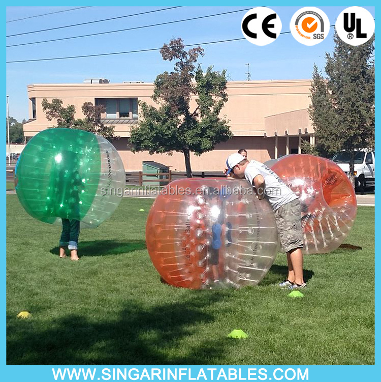 Good price 2016 new design style handles straps zorball loco ball fun ball bubble kicks discount for outdoor activities