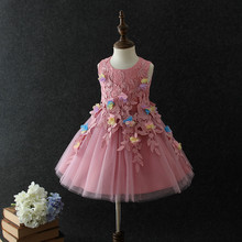 new kids flower fancy dress costumes for 9 years old girls cotton frock designs
