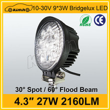 "4.3"" 2160LM 27w running light 27w auto led work light"