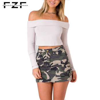 Fashion Printed Short Petti Camouflage Skirt Ladies