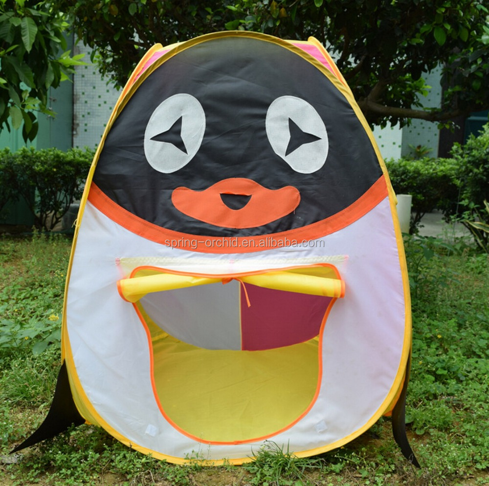 Cartoon Penguin Designed Pop Up Foldable Toy Indian Teepee Beach Tent Baby Kids Children Play Tent