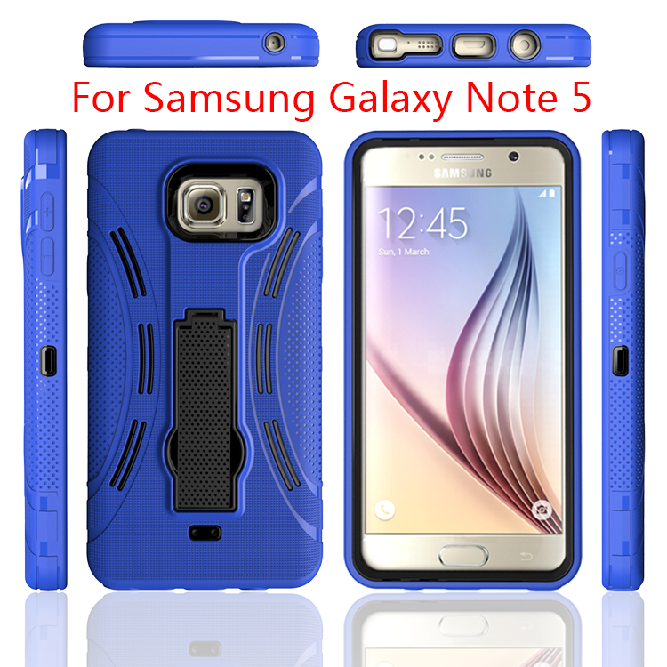 2016 China manufacture TPU+PC Hybrid 4 in 1 Armor cell phone accessory cover case For Samsung Galaxy Note 5