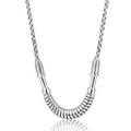 African Sporting Collection Ball 925 Sterling Silver Diamond Chain Necklace