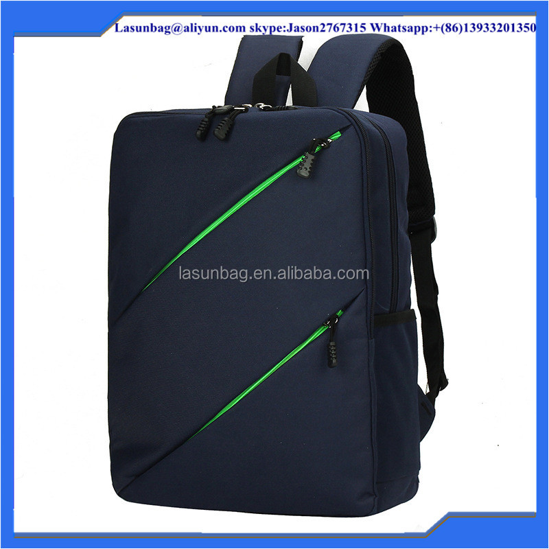 Green Flash Light High School Unisex Nylon Canvas Backpack Strong Laptop Backpack