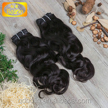 100% virgin raw unprocessed hair extension natural color artificial hair
