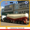 3 Axles 50 M3 dry bulk power cement tank truck /unloading bulk cement trailer for sale with Bohai air compressor