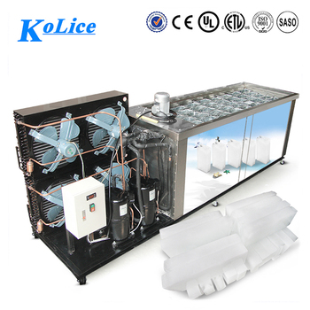 2000 kg ice block maker machine for small plant