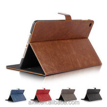 Luxury Genuine Leather Case For iPad mini 2 & mini 3 Ultra Thin Smart Stand Folio Flip Covers Cases
