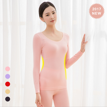 T359 2018 fashion bright color long johns heated thermal underwear