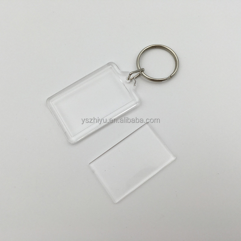 Plastic Photo Transparent Acrylic Keychain for Promotional