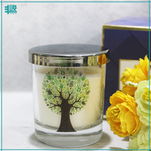 FengJun customized print logo thailand aroma candle in glass