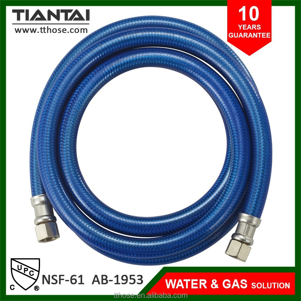 Flexible s.s dishwasher hose with PVC coat