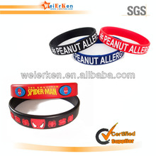 fashion and top motion sensor led silicon wristbands bracelets
