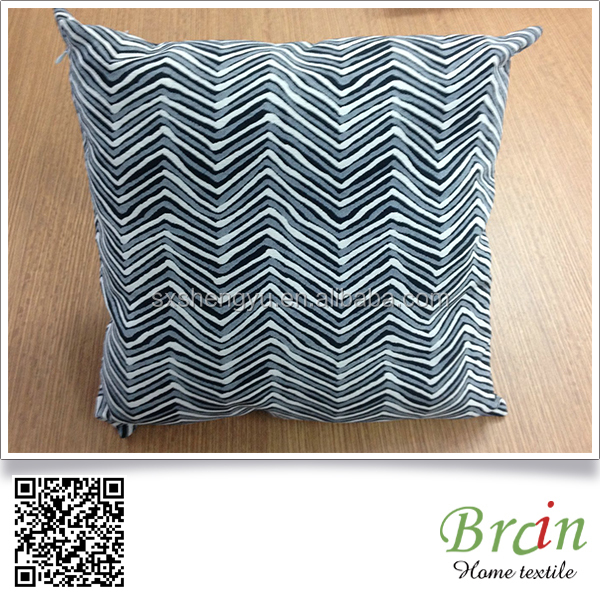 polyester Cotton yarn dyed fabric cushion /nice design decrative cushion
