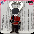 Metal UK London soldier design zinc alloy magnetic bottle opener with color filled