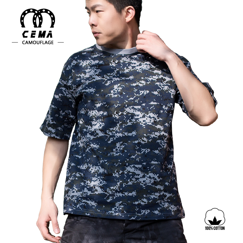 New arrival military style short sleeve 100% cotton camo t-shirt