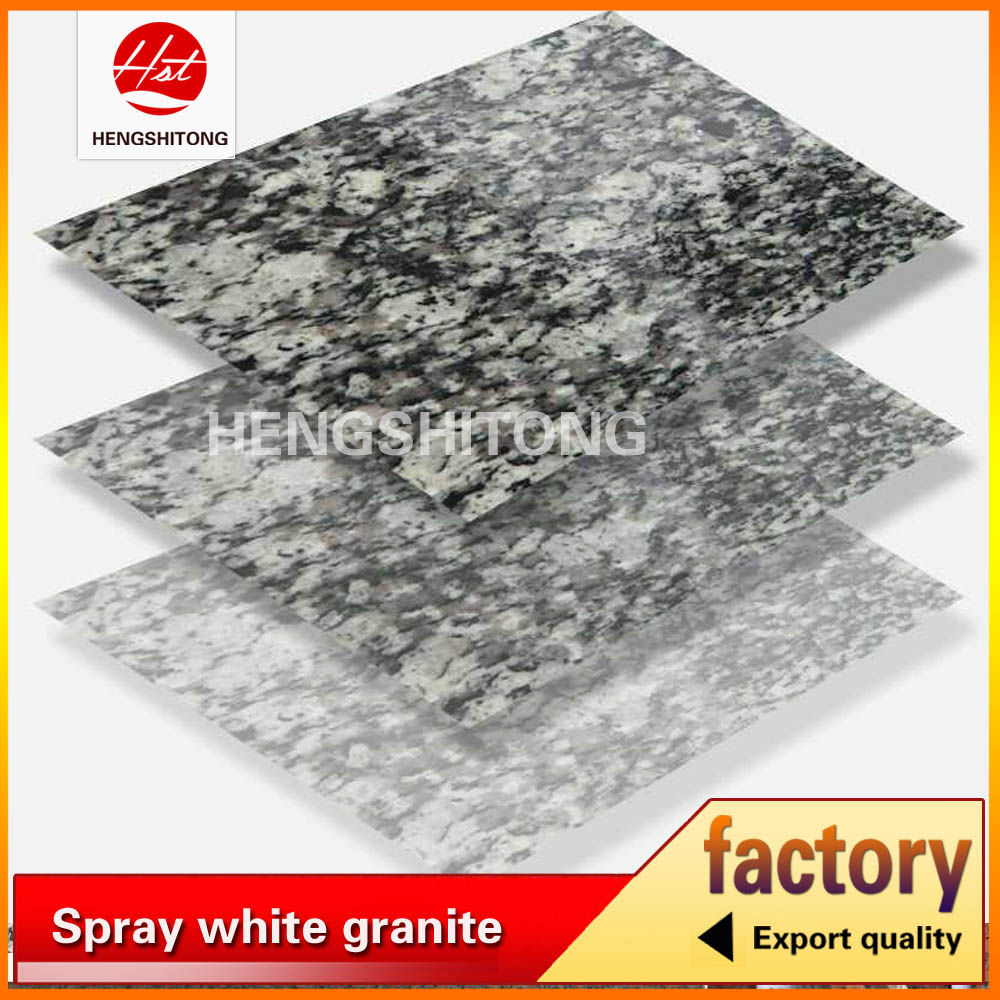 Cheap flamed spray white granite tiles
