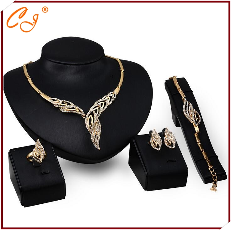 One Piece Dropshipping Multi Address Bulk Order Distributor 18K Jewelry <strong>Set</strong> Gold for Wedding Yiwu Distributor