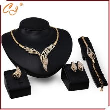 One Piece Dropshipping Multi Address Bulk Order Distributor 18K Jewelry Set Gold for Wedding Yiwu Distributor