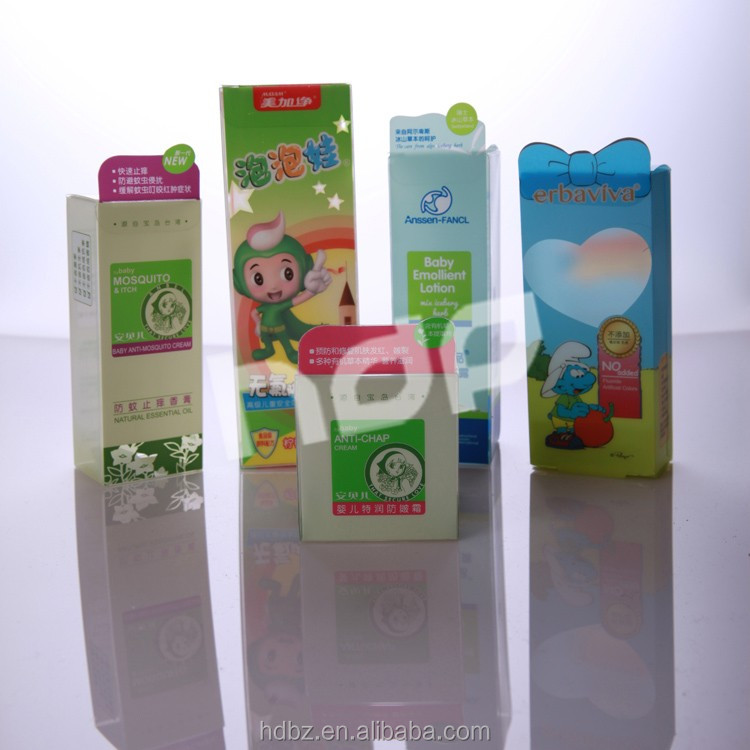 factory offer customized transparent clear plastic box with auto bottom soft crease