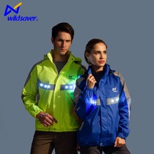 2016 fashion flashing safety winter running led jacket