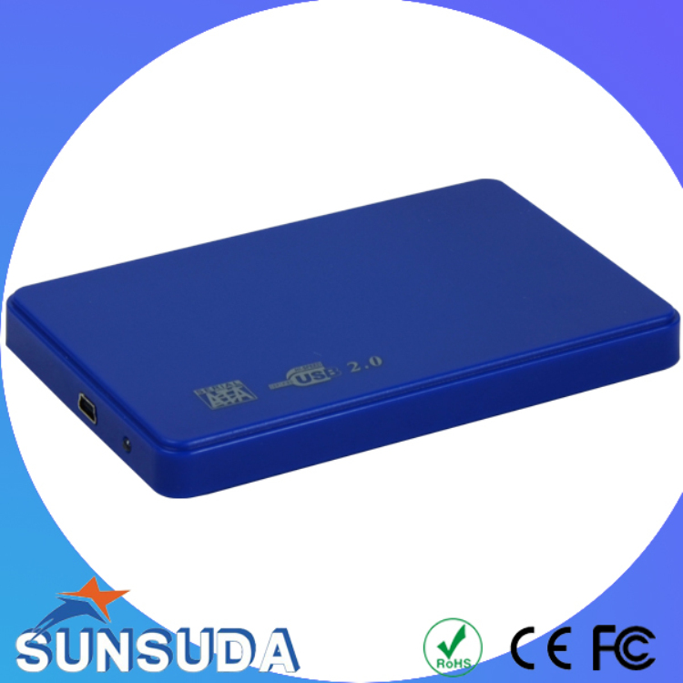 fashion 2.5 inch usb 2.0 to SATA HDD enclosure support up to 2TB hard disk drive high quality made in manufacturer