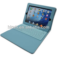 Flip Foldable Stand Leather Case With Bluetooth Keyboard For ipad4 New Ipad